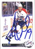 John Druce, Washington Capitals, 1992 Upper Deck Autographed Card