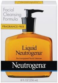 Neutrogena Fragrance Free Liquid Neutrogena, Facial Cleansing Formula, 8 Ounce