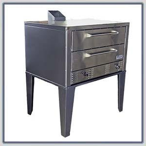 Peerless Cw-61P Gas Twin Deck Pizza Oven : Peerless Cw-61P-Lpg-Ss (Fr, Top, Sides, Back)- Sgl
