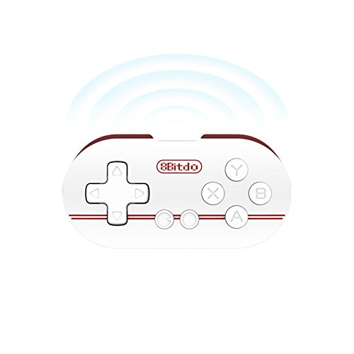 8bitdo Zero Mini Gamepad, Bluetooth Wireless Game Controller with Self Shutter function, Games Console for Android IOS Windows Iphone Ipad etc. Red (Portable Android Console compare prices)