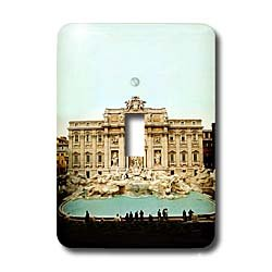 Vacation Spots - Trevi Fountain Italy - Light Switch Covers - single toggle switch