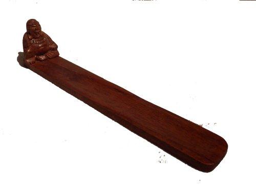 Fat Yembe hecho a mano de Buda con incensario de madera tallada con soporte de incienso.