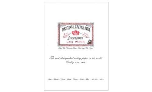Original Crown Mill C6 - Confezione di 50 quaderni per appunti, in carta vergatina, A5, bianco