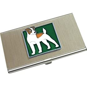 Jack Russell Terrier Business Card Holder