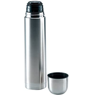 34 Ounce Stainless Steel Vacuum Insulated Briefcase Bottle Hot Cold Beverage by Leberna
