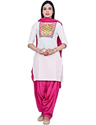 Rama Suit Set White Color EmbroideRed Kurti With Pink Patiala And Dupatta