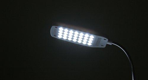 Usb Powered Flexible 28-Led Keyboard / Reading Lamp-28-Led Light, White, With Clip - (Premium Quality)