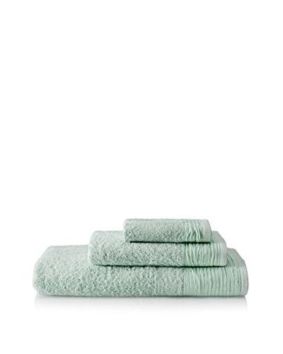 Nine Space Pleated 3-Piece Towel Set, Sage