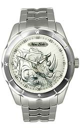 Marc Ecko Men's E95042G6 Suprement Silver Analog Bracelet Watch