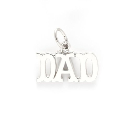 Dad Charm In Sterling Silver, Charms For Bracelets And Necklaces