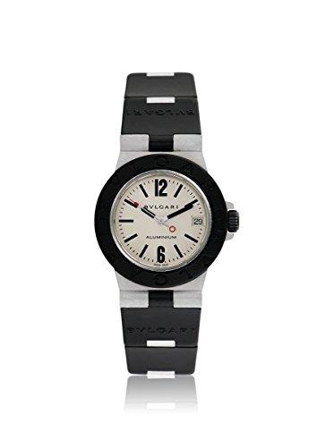 Bulgari Men's Pre-Owned Diagono Silver/Black Rubber & Aluminum Watch