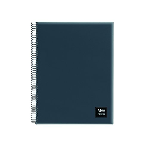 miquelrius-2764-5-farben-a5-notizbuch-125-blatt-kariert-80-gramm-polypropylen-grau-marengo