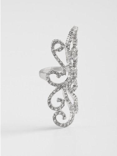 GUESS Filigree Ring - Size 7, SILVER