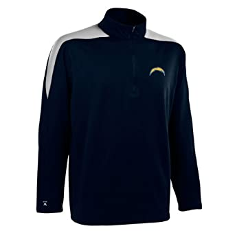 NFL Mens San Diego Chargers 1 2 Zip Jersey Pullover by Antigua