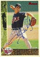 Gus Gandarillas Minnesota Twins 1995 Bowman Autographed Hand Signed Trading Card.