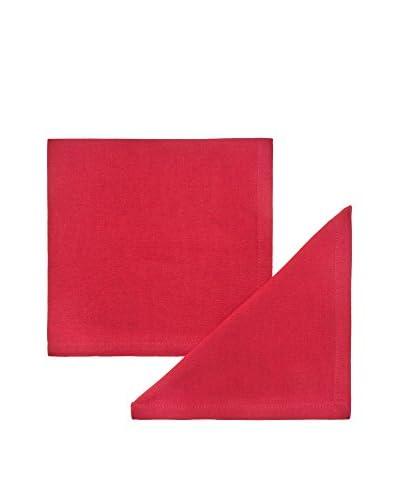 COINCASA Set Servilleta 2 Uds. Rojo 42 x 42 cm