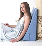 Alex Orthopedic - 5013-12-LB - Back Wedge Bed Reading Pillow - Light Blue - 12 in.