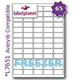65 Per PageSheet 10 Sheets 650 Sticky MINI FREEZER Labels Label Planet® White Blank Matt Self Adhesive A4 Deep Freeze Stickers For Frozen FoodProducts Printable With Laser or Inkjet Printers UK LP6538 DF 381 x 212 MM JAM FREE PRINTING
