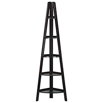 Casual Home 5-Shelf Corner Ladder Bookcase