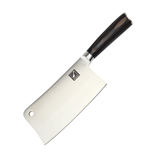 Imarku 7-Inch Stainless-Steel Chopper-Cleaver-Butcher Knife - Multipurpose Vegetable Meat Cutter/Chopper/Butcher Professional Cleaver for Home Kitchen or Restaurant (Meat Bone Cutter compare prices)