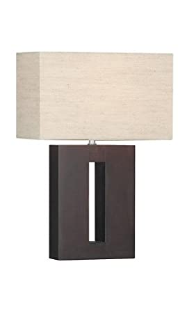 contemporary wooden table lamp with matching rectangular shade hp013166 lighting. Black Bedroom Furniture Sets. Home Design Ideas