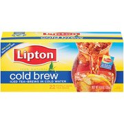 Lipton Cold Brew Pitcher Size Tea Bags, 22Ct(Case Of 2)