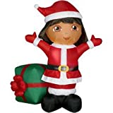gemmy inflatables christmas:Dora The internet explorer Christmas Airblown blow up Nickelodeon Gemmy