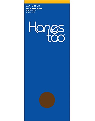 Hanes Women`s Too Sheer Knee High, 1Size-Barely There