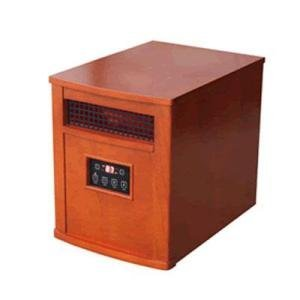 Comfort Glow, Qeh1500, Infrared Quartz Heater With Remote, Chestnut Oak Finish