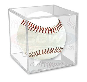 Cricket Ball, Baseball or Tennis Ball Display Case with Mirror Back