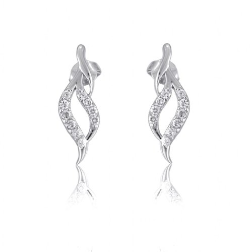 Lifestyle Infinity Lifestyle Clear Cubic Zirconia Swirl Earrings For Women (E204004R) (Transperant)