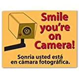 "Smile Your On Camera Sign, 9"" x 12"""
