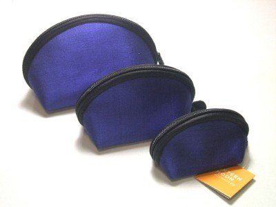 Lantern Moon Lapis Blue Clam Shell Set of 3 Case Nested Pouches from Lantern Moon