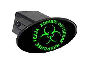 """Zombie Outbreak Response Team Green On Black - 2"""" Tow Trailer Hitch Cover Plug Insert produced by Graphics and More"""
