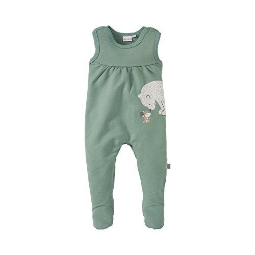 BORNINO Sweat-Strampler Baby Strampelanzug, Größe 50/56, grün