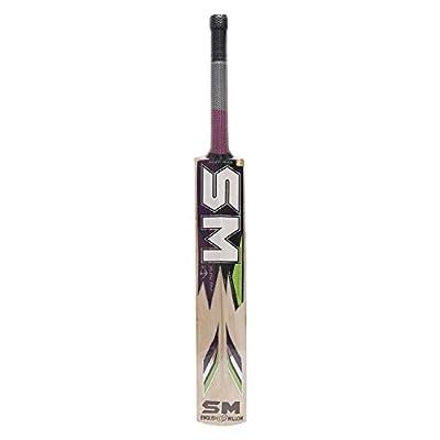 SM Club Fighter (Firebolt) English Willow Cricket Bat, Short Handle