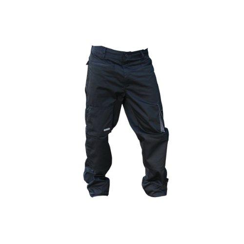 Delta Plus - Pantaloni da Lavoro (Gamba regolare) - Uomo (XXXL) (Nero/Grigio)