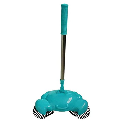 YOOYOO Vacuum Cleaner without Electricity - Hand Push Automatic Sweeping Robot - Broom With Dust Pan and Trash Bin 3 in 1 (blue) (Robot Trash Can compare prices)