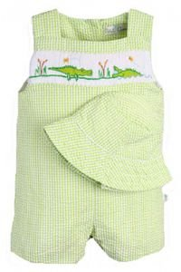 Petit Ami Boys Smocked Clothing - Petit Ami Alligator Smocked Jon Jon Sunsuit - Bo'ys Smocked Clothing and sun hat - Buy Petit Ami Boys Smocked Clothing - Petit Ami Alligator Smocked Jon Jon Sunsuit - Bo'ys Smocked Clothing and sun hat - Purchase Petit Ami Boys Smocked Clothing - Petit Ami Alligator Smocked Jon Jon Sunsuit - Bo'ys Smocked Clothing and sun hat (So Sweet Boutique, So Sweet Boutique Apparel, So Sweet Boutique Toddler Boys Apparel, Apparel, Departments, Kids & Baby, Infants & Toddlers, Boys, One-Pieces & Rompers)