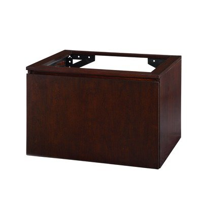 Xylem V-BLOX-DR30DW Blox Vanity with Wood Drawer, Dark Walnut, 30-Inch