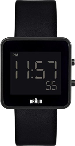 Braun Men's Watch BN0046BKBKG With Digital Display And Leather Strap