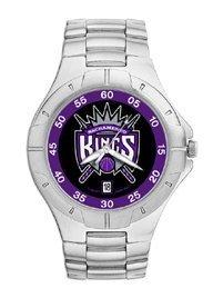 Sacramento Kings Mens Pro Ii Sterling Silver Bracelet Watch by Logo Art