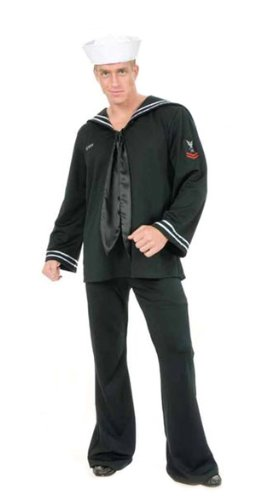 Charades Mens 20s 40s Navy Sailor Uniform Halloween Costume