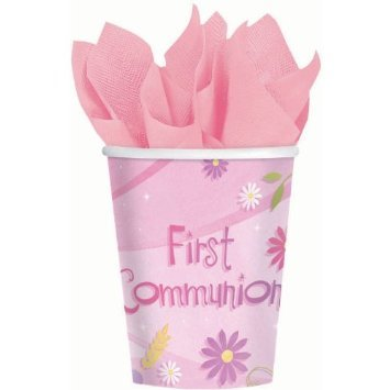 Pink First Communion Cups 18 count