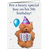 Beary Special 5th Birthday Boy Blank Card