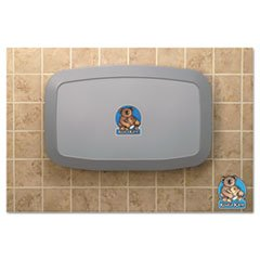 * Horizontal Baby Changing Station, Gray front-245914
