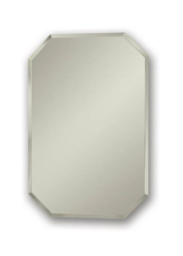 Broan-NuTone 1454 Mirage Octagonal Frameless Medicine Cabinet with Beveled Mirror