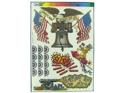 [Liberty and justice window clings ( Case of 90 )] (Liberty Bell Costumes)