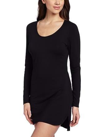 Splendid Intimates Women's Essential Long Sleeve Chemise, Black, X-Small