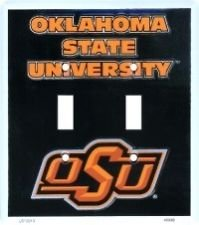Oklahoma State University Cowboys Collegiate Vanity Metal Novelty Double Light Switch Cover ...